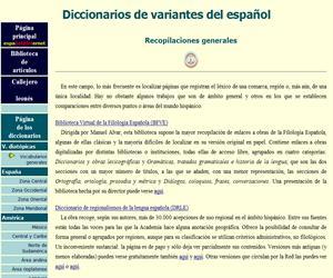 Diccionarios de variantes del español (Universidad de León)