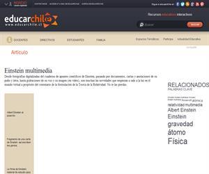 Einstein multimedia (Educarchile)