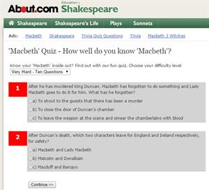 'Macbeth' Quiz. How well do you know 'Macbeth'? (about.com)