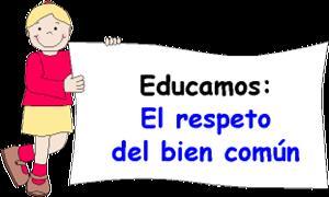 Actividades educativas sobre el respeto por el bien común