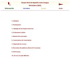 Corpus oral de Español como Lengua Extranjera