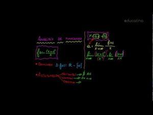 Análisis de una función: Asíntotas