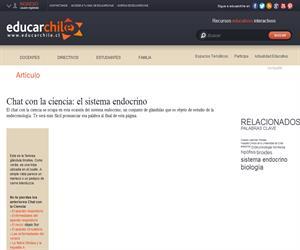 Chat con la ciencia: el sistema endocrino (Educarchile)