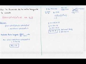 Ecuación de la recta tangente a una curva en un punto 3