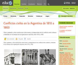 Conflictos civiles en la Argentina de 1810 a 1860