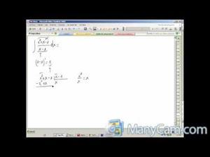 Cálculo de una integral racional sencilla