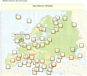Mapa físico interactivo de Europa