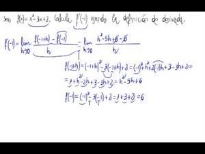 Derivada por definición (Polinomio de grado 2)