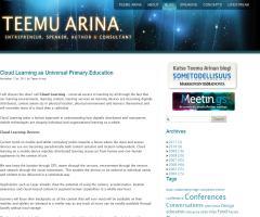Cloud Learning as Universal Primary Education | Teemu Arina