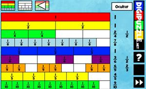 Muro de Fracción. Fracciones equivalentes (Digipuzzle.net)