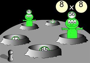 Las tablas de multiplicar con planetas
