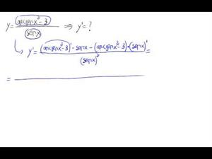 Derivada - Cociente potencia arcoseno partido rigonométrica
