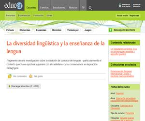 La diversidad lingüística y la enseñanza de la lengua