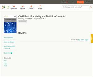 CK-12 Basic Probability and Statistics Concept? Basic