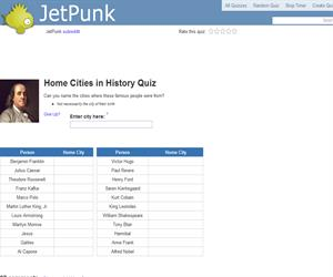 Home Cities in History Quiz