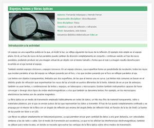 Espejos, lentes y fibras ópticas