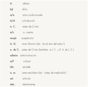 Cómo escribir las abreviaturas