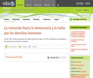 La transición hacia la democracia y la lucha por los derechos humanos.
