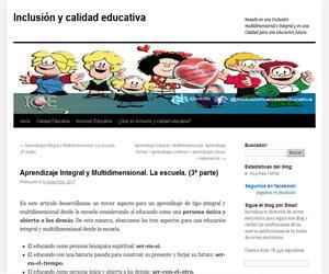 Aprendizaje Integral y Multidimensional. La escuela. (3º parte)