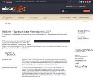 Omisión - Segundo lugar Nanometrajes 2007 (Educarchile)