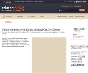 Naturaleza muerta con guitarra (Manuel Ortíz de Zárate) (Educarchile)