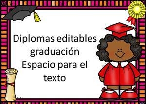 Colección de diplomas editables final de curso o graduación