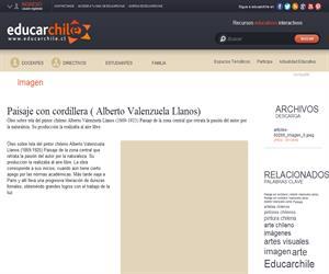 Paisaje con cordillera ( Alberto Valenzuela Llanos) (Educarchile)