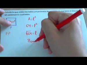 Ejercicios de área y perímetro de un cuadrado