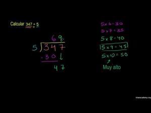 División de números enteros y aplicaciones - Parte 3 (Khan Academy Español)
