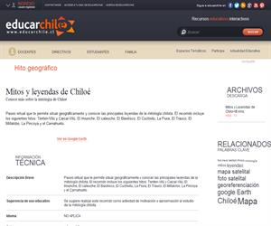 Mitos y leyendas de Chiloé (Educarchile)
