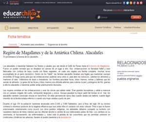 XII Región: Alacalufes (Educarchile)