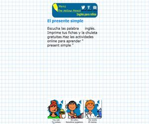 El presente simple en inglés - The simple present (theyellowpencil)