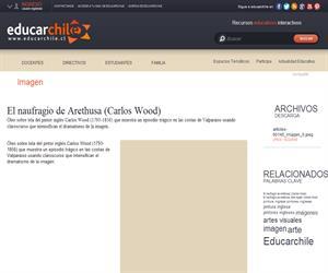 El naufragio de Arethusa (Carlos Wood) (Educarchile)