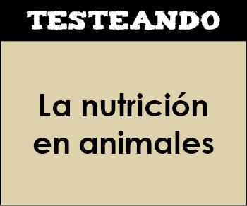 La nutrición en animales. 1º Bachillerato - Biología (Testeando)