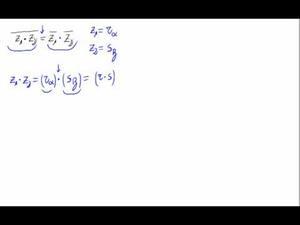 Propiedad para el conjugado de un producto (Forma polar)