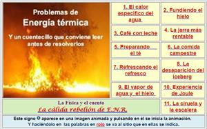 Problemas de Energía Térmica (nivel inicial)