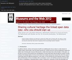 Sharing cultural heritage the linked open data way: why you should sign up