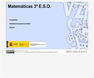 Libro digital de matemáticas para 3º ESO (cedec)