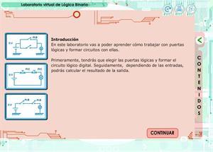 Laboratorio virtual de lógica binaria. Tecnología para Secundaria