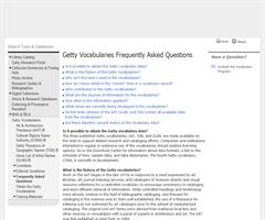 The Getty Vocabularies: project to publish as Linked Open Data  (Getty Research Institute)