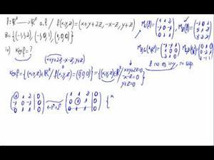 Aplicaciones lineales - Núcleo