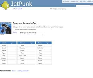 Famous Animals Quiz