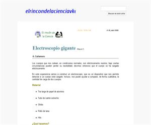 Electroscopio gigante
