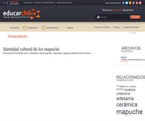 Identidad cultural de los mapuche (Educarchile)