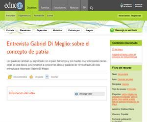 Entrevista Gabriel Di Meglio: sobre el concepto de patria