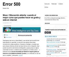 Educación abierta: cuando el mejor curso que puedes hacer es gratis y está en internet | Error 500