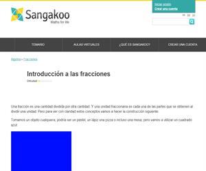 Introducción a las fracciones (Sangakoo)