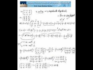 Diagonalización ortogonal - matriz 3x3