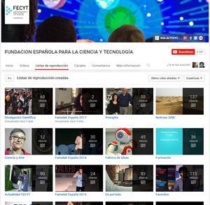 Vídeos de Ciencias de la Fundación Española para la Ciencia y la Tecnología