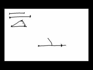 Construcción de un triángulo dados 2 lados y un ángulo